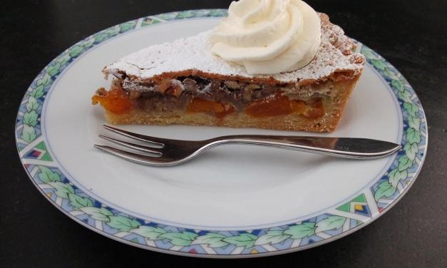 Abrikozen-Pecan taart