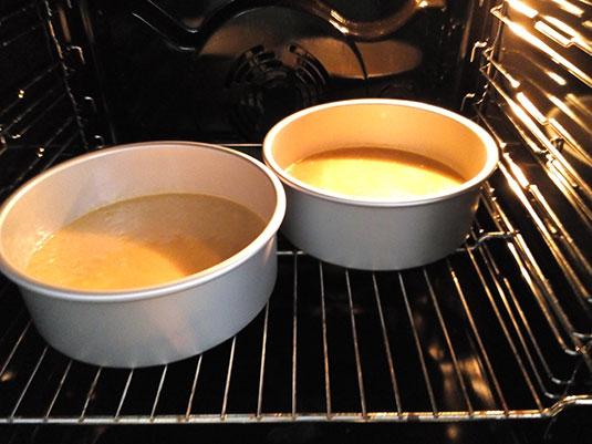 Koffie-taartbodem-oven Bisquit met Espresso