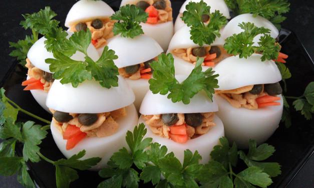 Gevulde eieren (Paaskuikens)